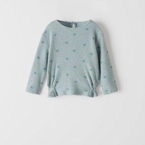 Zara Kids Floral Soft Feel Shirt Top NWT